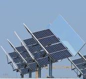 Photovoltaic paneler Arkivfoto