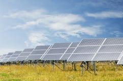 Photovoltaic paneler Royaltyfria Foton