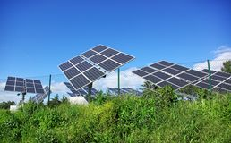Photovoltaic panels . Stock Images