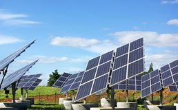 Photovoltaic panels . Stock Photography