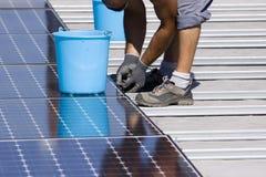 Photovoltaic panels Royalty Free Stock Photos