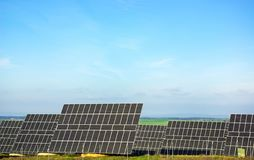 Photovoltaic panels . Royalty Free Stock Image