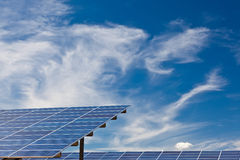Photovoltaic panels. In a solar power plant Stock Photography