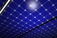 Photovoltaic Panels. Photovoltaic Boards-Panels. Solar Panels Renewable, Alternative Energy. Solar Panels Hi-Tech Background Royalty Free Stock Photo