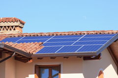 Photovoltaic panels. Some photovoltaic panels as a metaphore for solar energy royalty free stock images