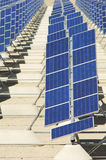 Photovoltaic panels. Detail of a huge solar field Royalty Free Stock Image