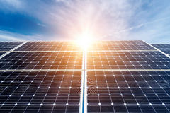 Photovoltaic panels. Alternative electricity source Royalty Free Stock Image