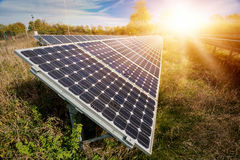Photovoltaic panels - alternative electricity source Royalty Free Stock Image