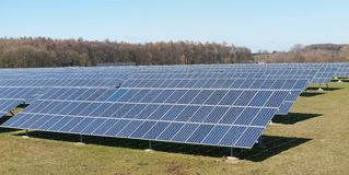 Photovoltaic panels field Royalty Free Stock Photos