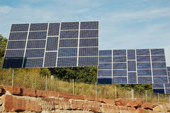 Photovoltaic panels installation Royalty Free Stock Photos
