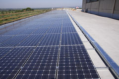 Photovoltaic panels laborer Stock Images