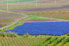 Photovoltaic panels in landscape Royalty Free Stock Photo