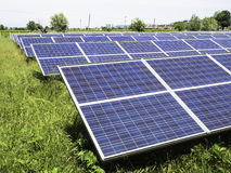 Photovoltaic panels in a photovoltaic park Stock Photo