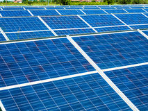 Photovoltaic panels in a photovoltaic park Royalty Free Stock Image