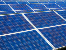 Photovoltaic panels in a photovoltaic park Royalty Free Stock Photo