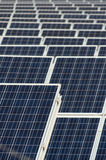 Solar Photovoltaic panels. Photovoltaic panels in a regular geometric color vertical composition Stock Photo
