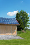 Photovoltaic panels on roof of barn Royalty Free Stock Photos
