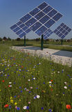 Photovoltaic panels rotating Stock Photography