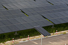 Photovoltaic panels solar field Stock Photo