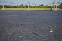 Photovoltaic panels solar field Royalty Free Stock Photo