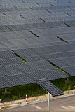 Photovoltaic panels solar field Stock Images