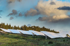 Photovoltaic panels at sunset Stock Photo