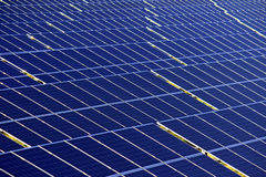 Photovoltaic panels under sun light Royalty Free Stock Photography