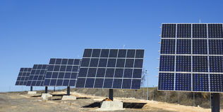 Photovoltaic plant Royalty Free Stock Image