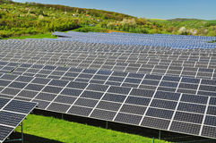Photovoltaic post Stock Foto's
