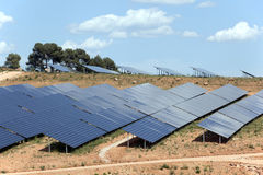 Photovoltaic power plant Stock Photos