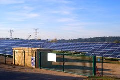 Photovoltaic power plant Stock Photo