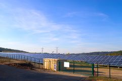 Photovoltaic power plant Royalty Free Stock Photography