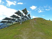 Photovoltaic power plant Stock Images