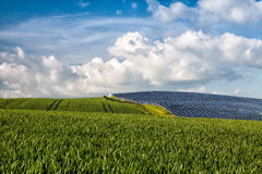 Photovoltaic power plant Royalty Free Stock Images