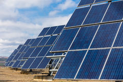 Photovoltaic power plant Royalty Free Stock Image