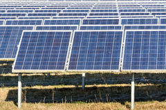 Photovoltaic power station Stock Images