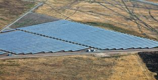 Photovoltaic power station near Kazanlak Royalty Free Stock Images