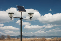 Photovoltaic powered street lights Stock Photography