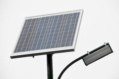 Photovoltaic public lighting Stock Photos