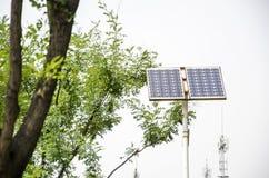 Photovoltaic PV elektrische en zonne-thermische elektrische technologieën stock afbeeldingen