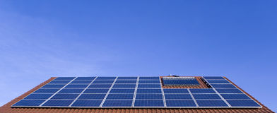 Photovoltaic roof Royalty Free Stock Photography