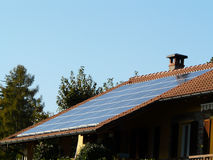 Photovoltaic roof Stock Photos