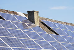 Photovoltaic roof Royalty Free Stock Photos