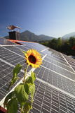 Photovoltaic on roof Royalty Free Stock Photos