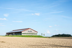 Photovoltaic Roof on a Barn Stock Photography