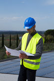 Photovoltaic skilled worker Royalty Free Stock Image