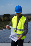 Photovoltaic skilled worker Stock Images