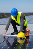 Photovoltaic skilled worker Stock Photography