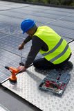 Photovoltaic skilled worker Royalty Free Stock Photo