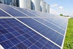 photovoltaic sol- för panel Arkivbild